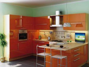 кухня хай-тех пластикові фасади