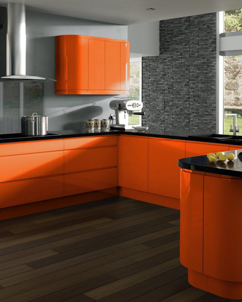 чорно оранжева кухня